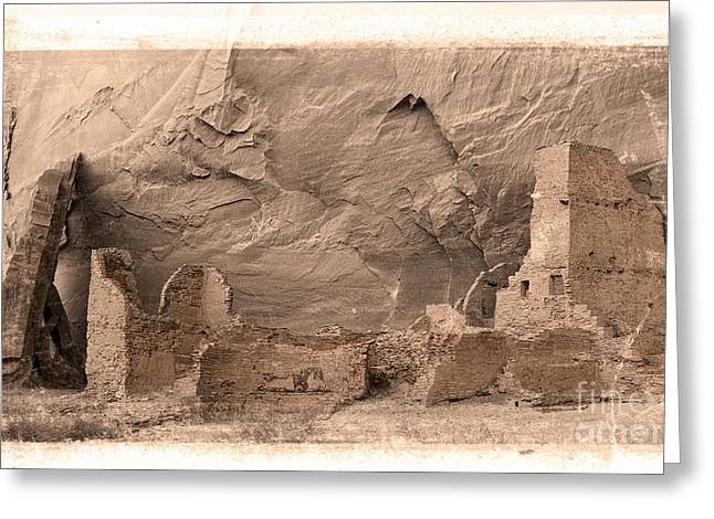 Vintage Canyon De Chelly Greeting Card by Jerry Fornarotto