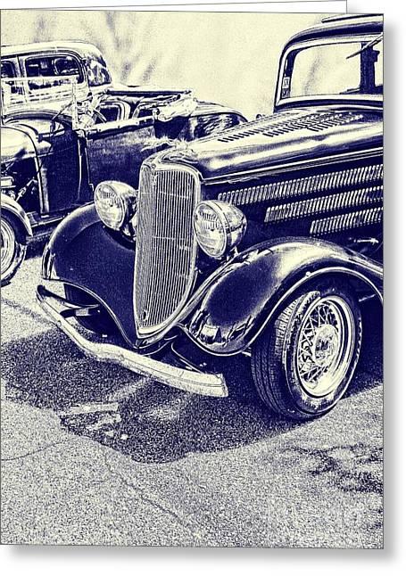 Vintage Ford Art Blueprint Nbr 161 Greeting Card by Lesa Fine