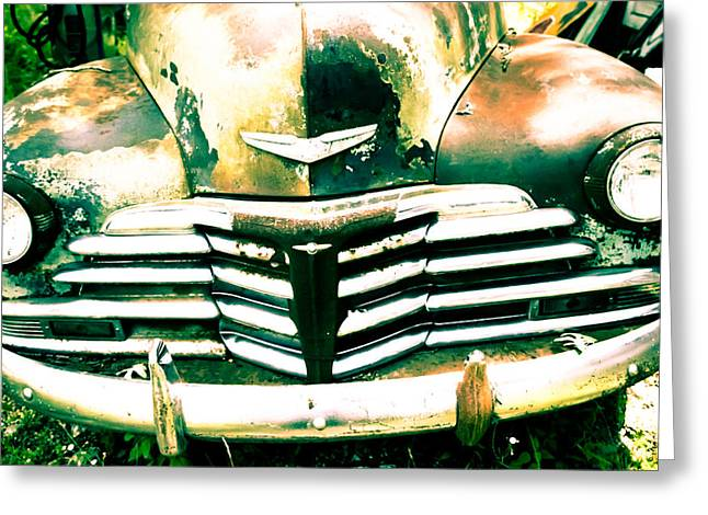 Vintage Car Grill Greeting Card by Audreen Gieger-Hawkins