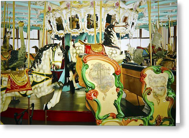Greeting Card featuring the photograph Vintage Carosel by Debra Crank