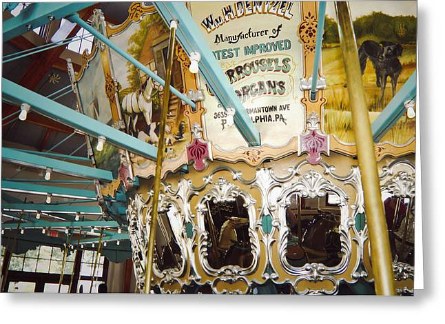 Greeting Card featuring the photograph Vintage Carousel by Debra Crank