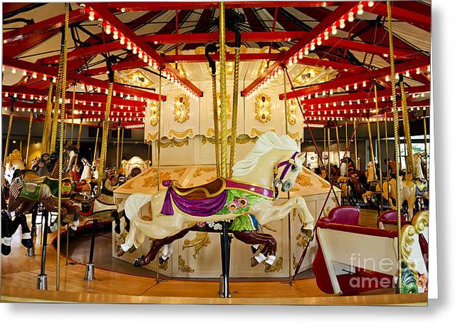 Greeting Card featuring the photograph Vintage Carousel by Maria Janicki