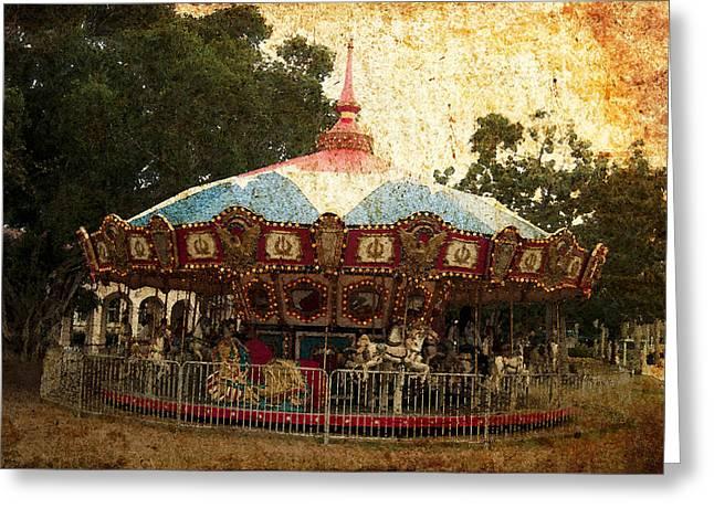 Vintage Carousel Greeting Card