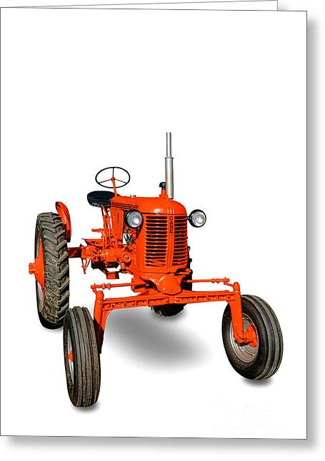 Vintage Case Tractor Greeting Card by Olivier Le Queinec