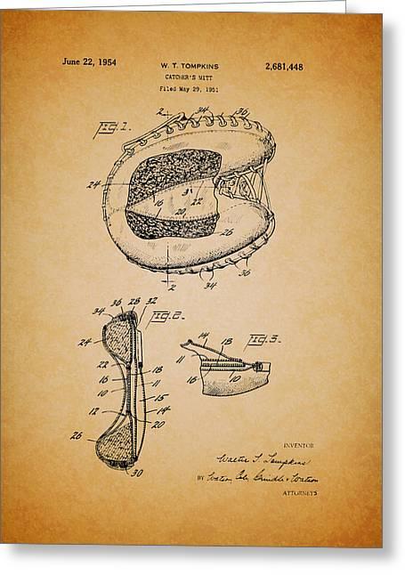 Vintage Catcher's Mitt Patent Greeting Card