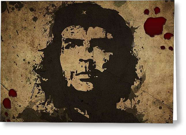Vintage Che Greeting Card by Gianfranco Weiss