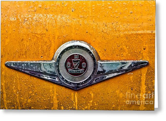Vintage Checker Taxi Greeting Card