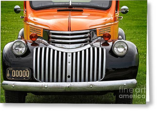 Vintage Chevrolet Pickup Greeting Card by Jarrod Erbe