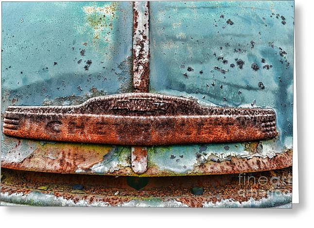 Vintage Chevy Rust  Greeting Card by Paul Ward