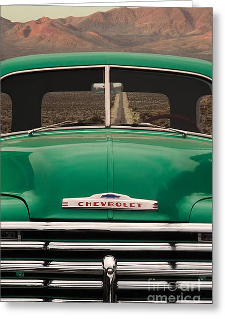 Vintage Chevy Truck Greeting Card by Ron Sanford