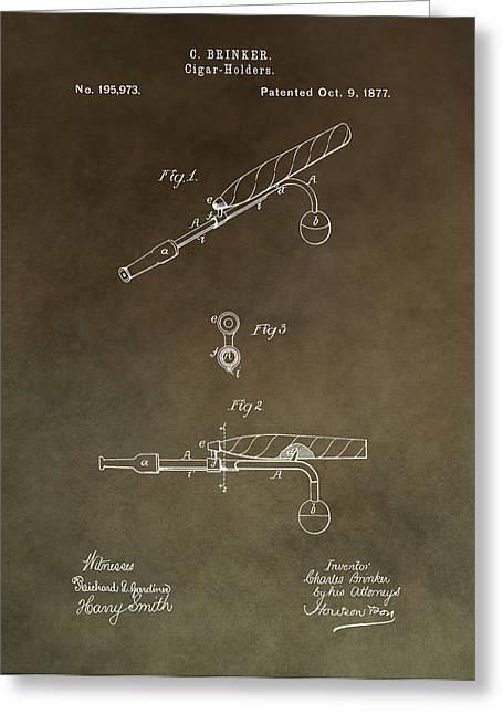 Vintage Cigar Holder Patent Greeting Card