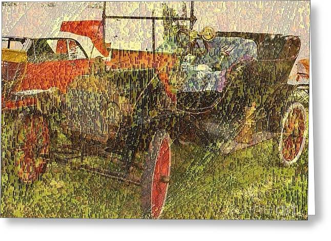 Vintage Classic Automobile Greeting Card