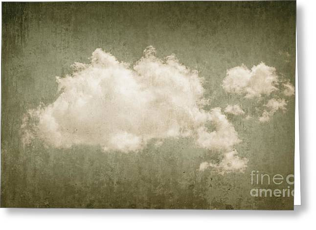 Vintage Clouds Background Greeting Card