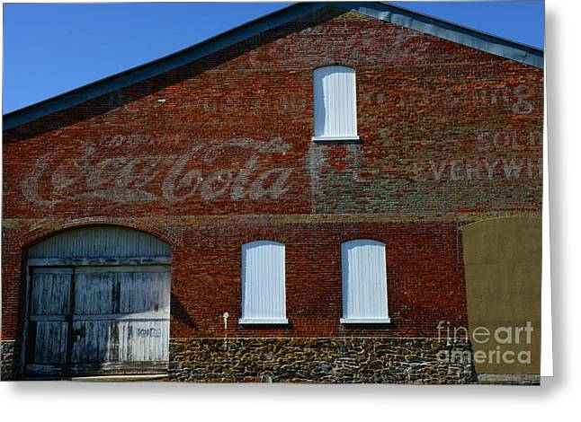 Vintage Coca Cola Ghost Sign Greeting Card