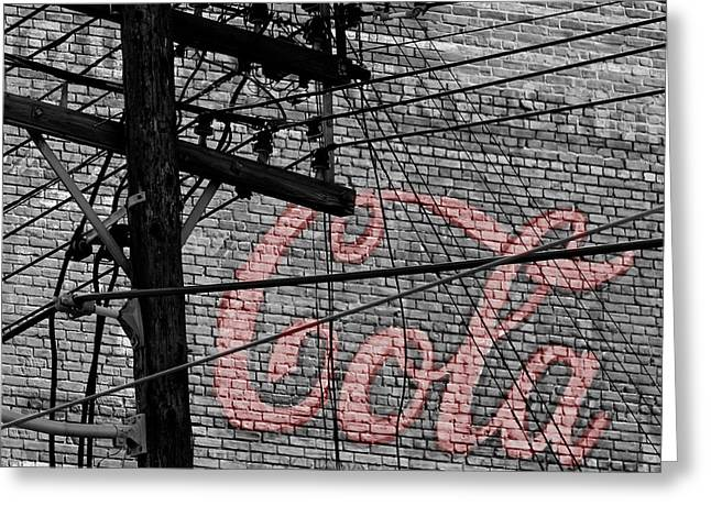 Vintage Coca Cola Sign 4b Greeting Card by Andrew Fare