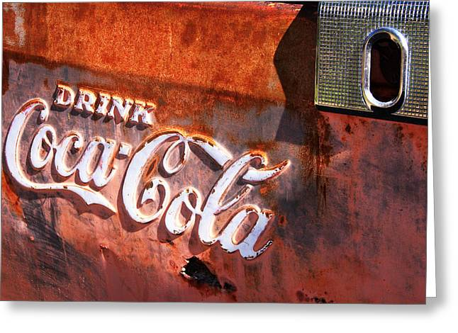 Greeting Card featuring the photograph Vintage Coca Cola by Steven Bateson