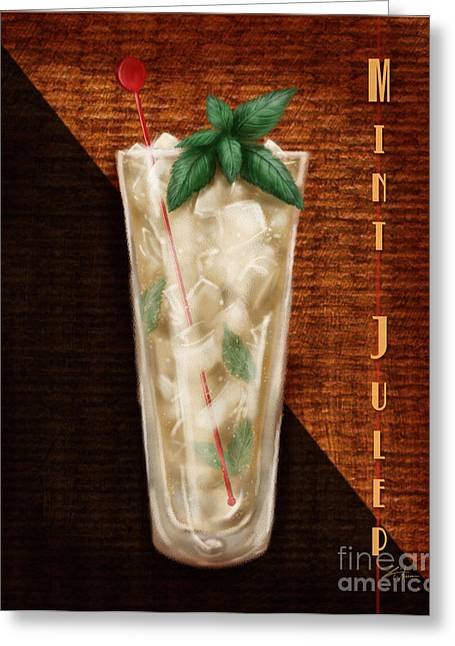 Vintage Cocktails-mint Julep Greeting Card by Shari Warren