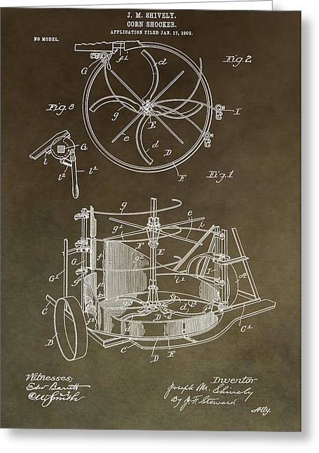 Vintage Corn Shocker Patent Greeting Card by Dan Sproul