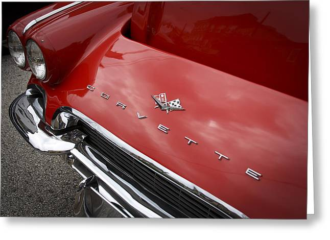 Greeting Card featuring the photograph Vintage Corvette by Patrice Zinck