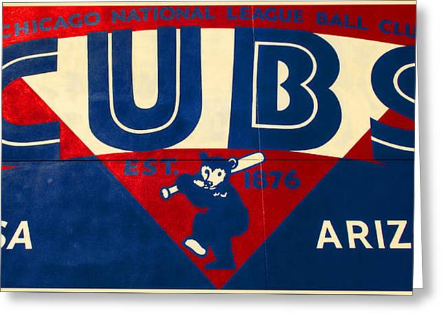 Vintage Cubs Spring Training Sign Greeting Card by Stephen Stookey