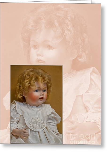 Vintage Doll Beauty Art Prints Greeting Card