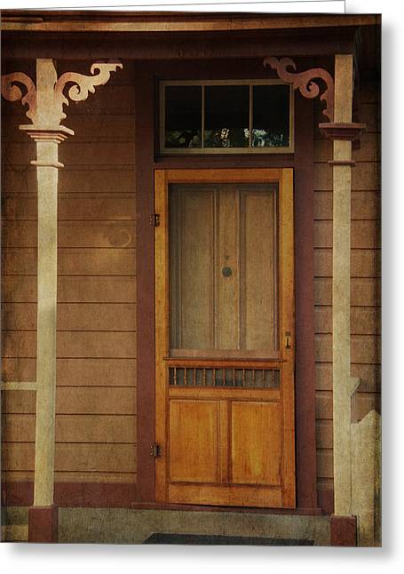 Vintage Doorway Greeting Card by Marilyn Wilson