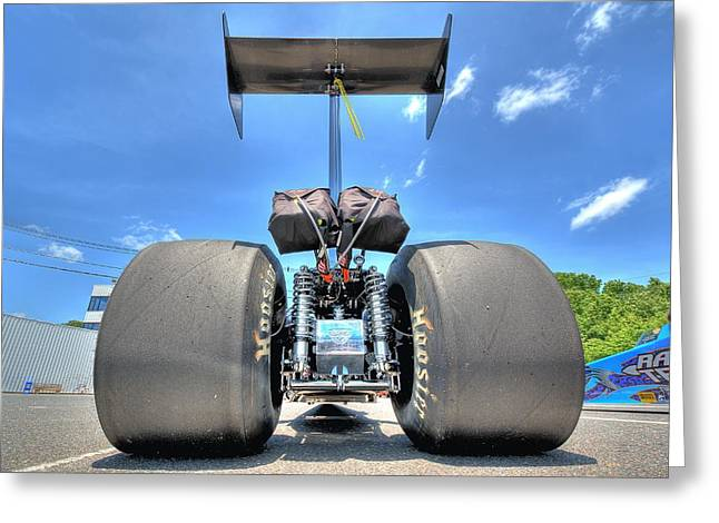 Greeting Card featuring the photograph Vintage Drag Racer by Gianfranco Weiss