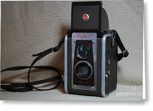 Vintage Duaflex Iv Camera Greeting Card