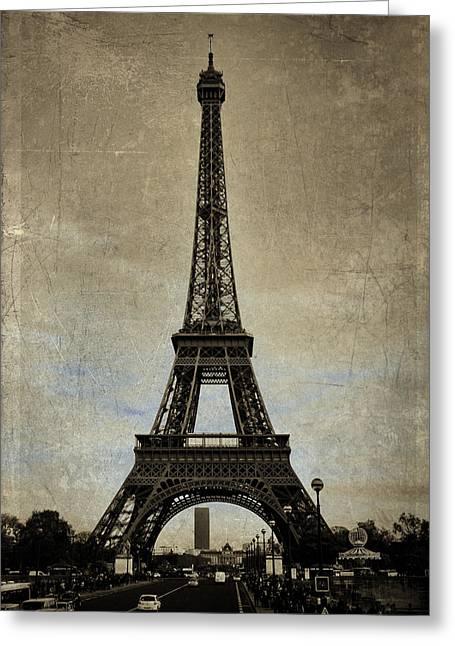 Vintage Eiffel Bronze Greeting Card
