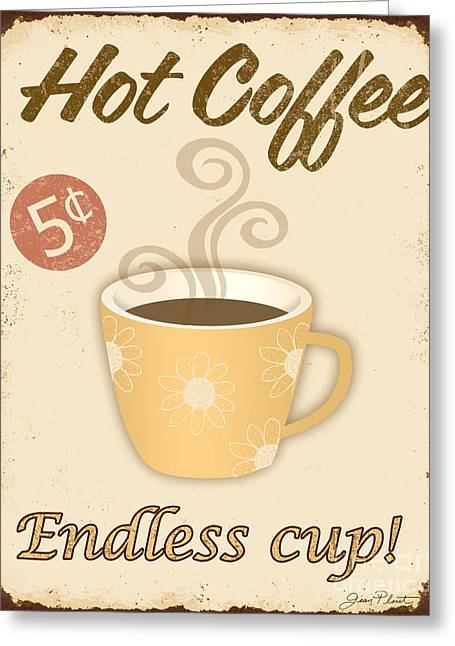 Vintage Endless Coffee Cup Sign Greeting Card