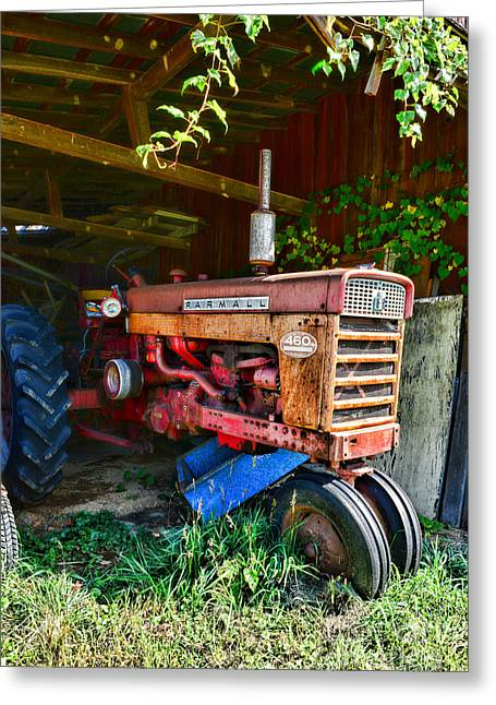 Vintage Farmall Tractor Greeting Card by Paul Ward