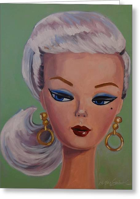 Vintage Fashion Doll Series  Greeting Card by Kelley Smith