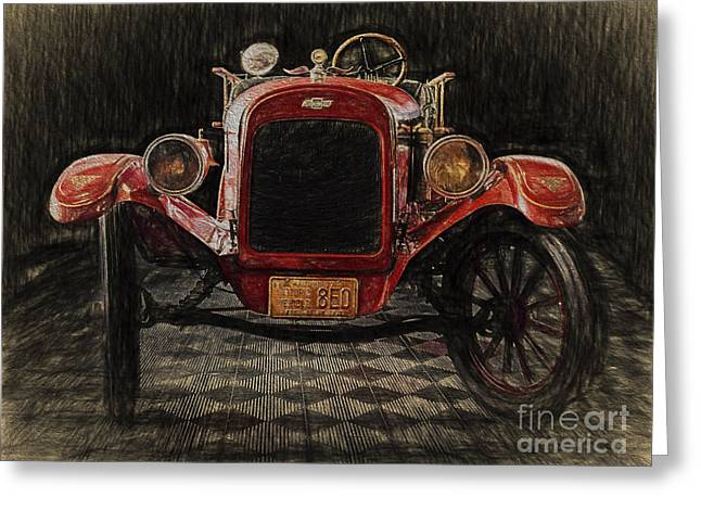 Vintage Fire Truck  ... Greeting Card