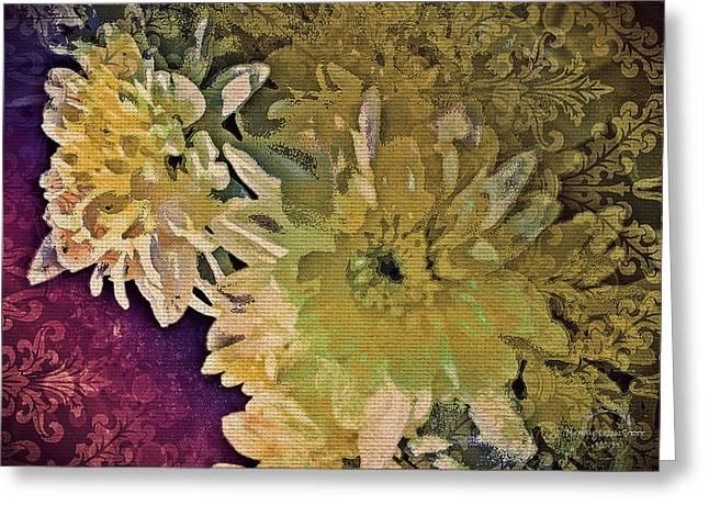 Vintage Flower Tapestry Greeting Card
