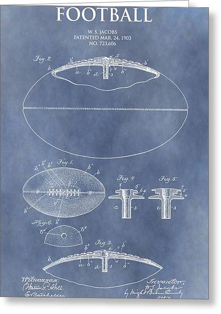 Vintage Football Patent Greeting Card