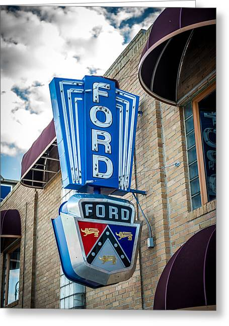 Vintage Ford Sign Greeting Card