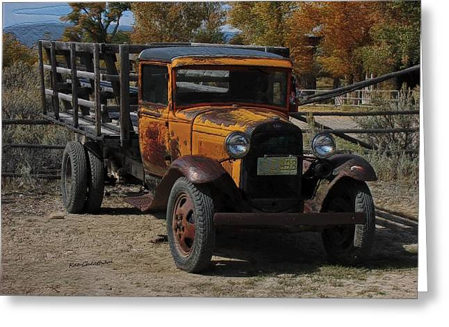 Vintage Ford Truck 2 Greeting Card