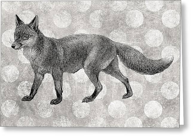 Gray Fox Greeting Card by Flo Karp