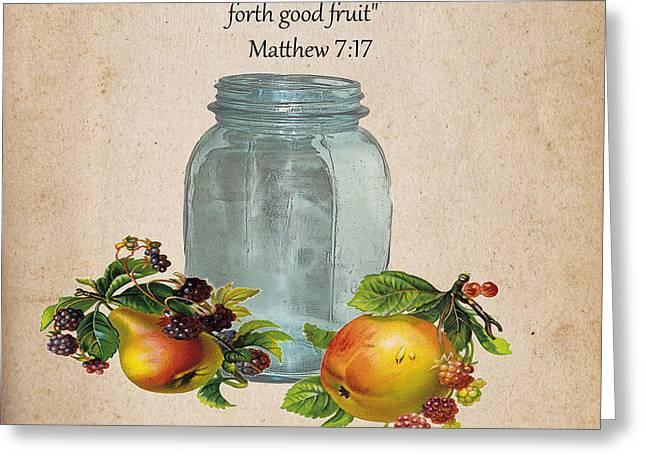 Vintage Fruit Jar Greeting Card