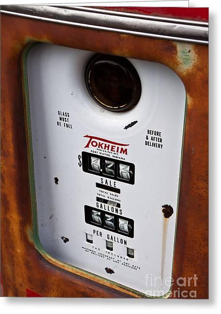 Vintage Fuel Pump Greeting Card