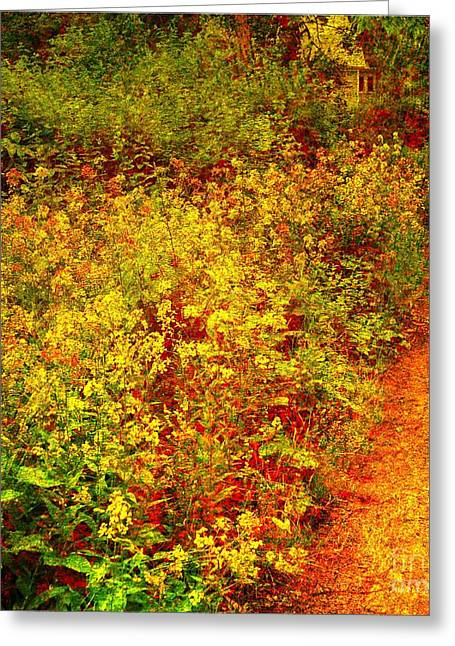 Greeting Card featuring the photograph Vintage Garden Path by Terri Gostola