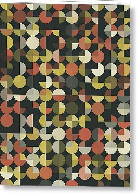 Vintage Geometric Circle Pie Vertical Pattern Greeting Card