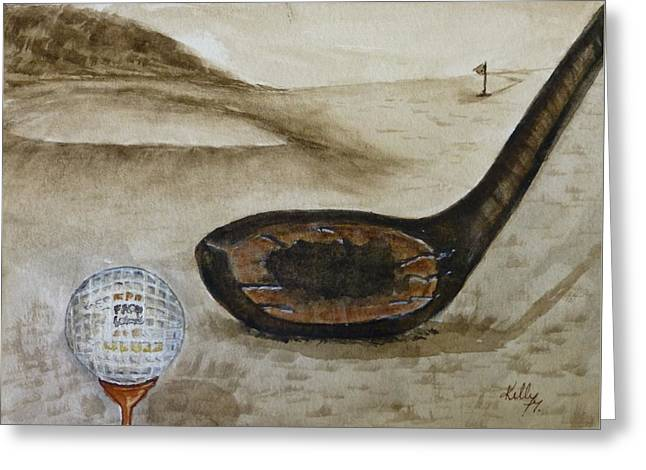 Vintage Golfing In The Early 1900s Greeting Card