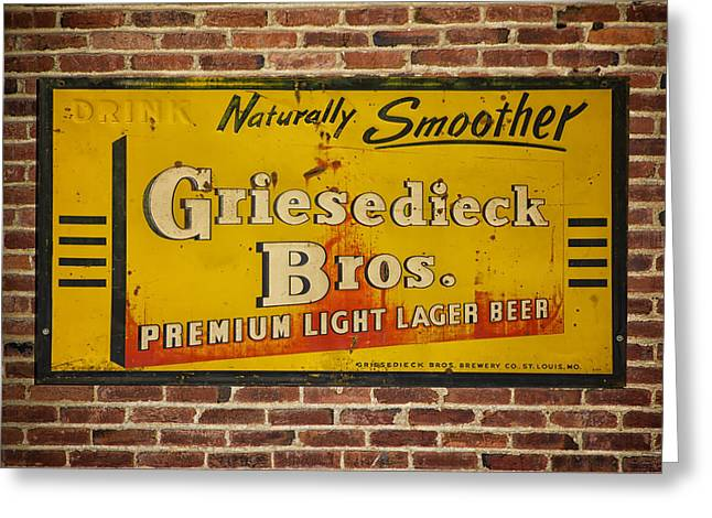 Vintage Griesedieck Bros Beer Dsc07192 Greeting Card