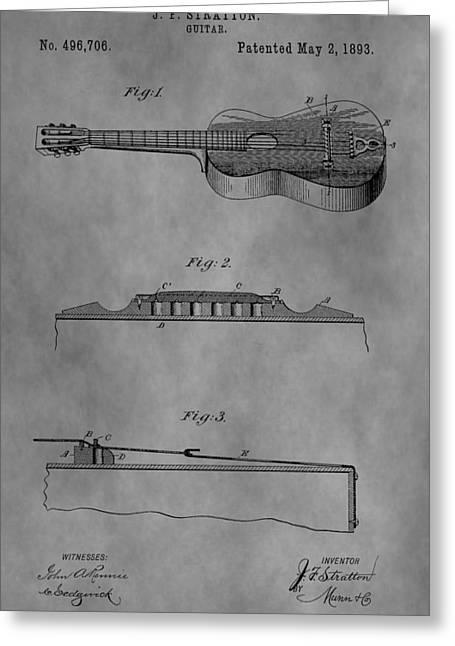 Vintage Guitar Patent Greeting Card
