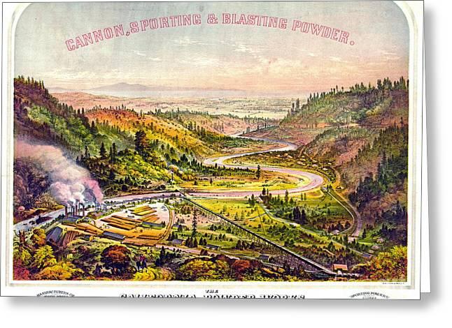 Vintage Gunpowder Ad 1864 Greeting Card by Padre Art