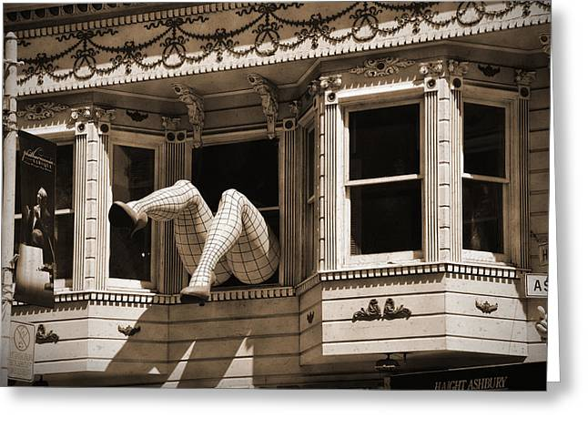 Vintage Haight And Ashbury San Francisco Greeting Card by RicardMN Photography