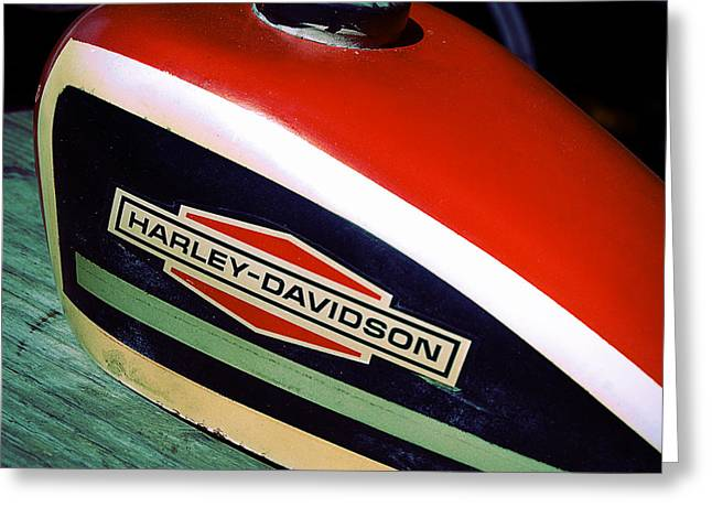 Vintage Harley Davidson Gas Tank Greeting Card
