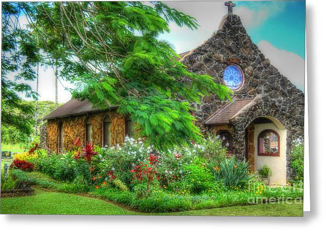 Vintage Hawaiian Church Greeting Card