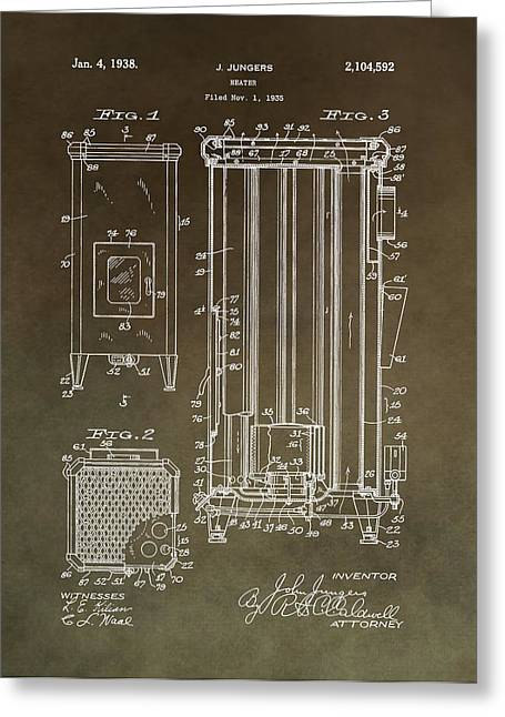 Vintage Heater Patent Greeting Card